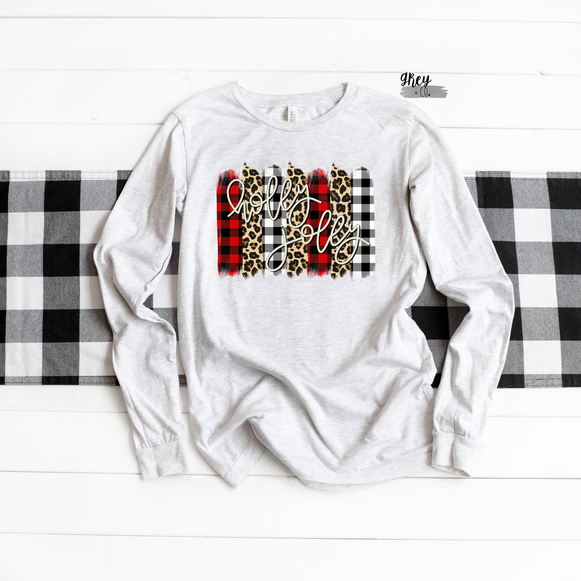 Holly jolly long sleeve {Grey + co}