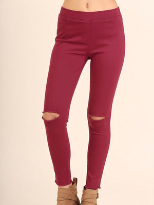 Knee cut Jeggings