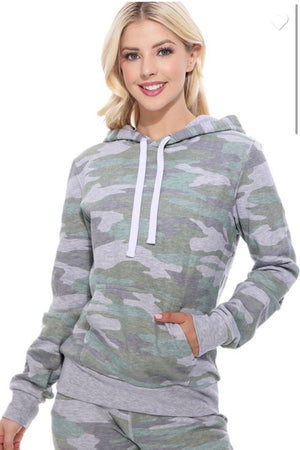 All the camo hoodie {light olive}