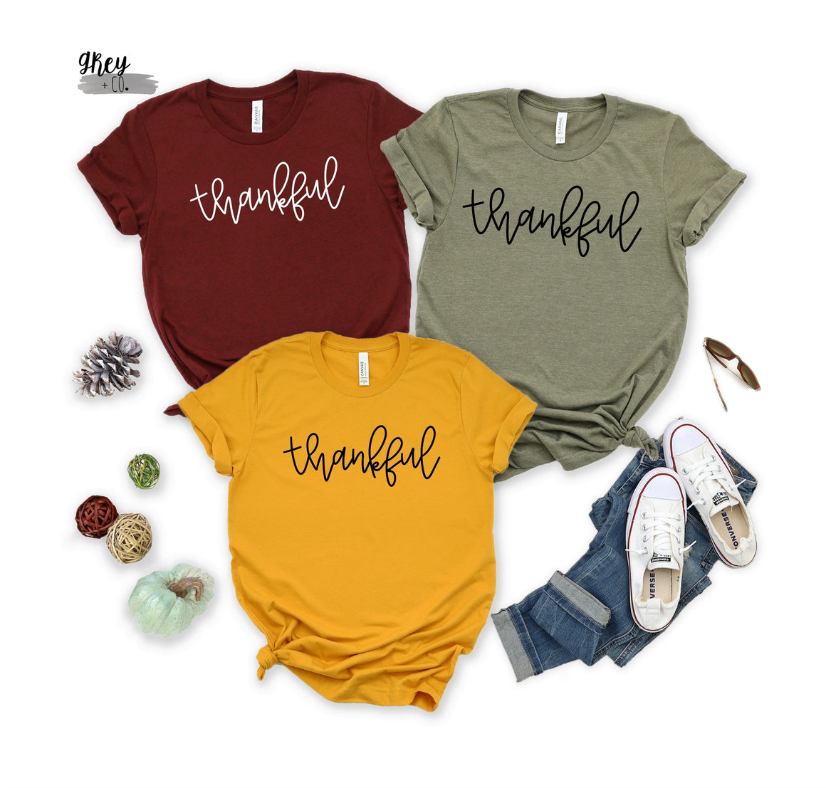 Thankful tee {Grey + co}