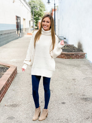 Aniston oversized turtle neck sweater