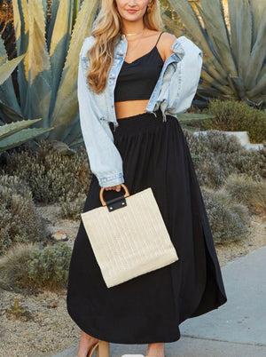Giselle high rise maxi skirt