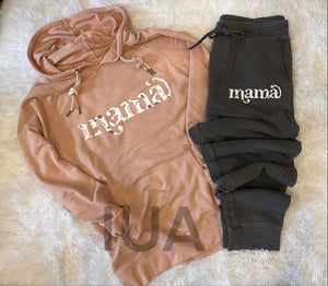 Peach mama double cord hoodie and jogger set