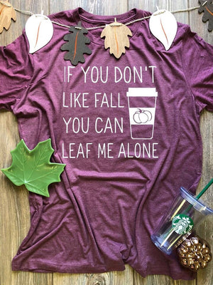 Leaf me alone graphic tee