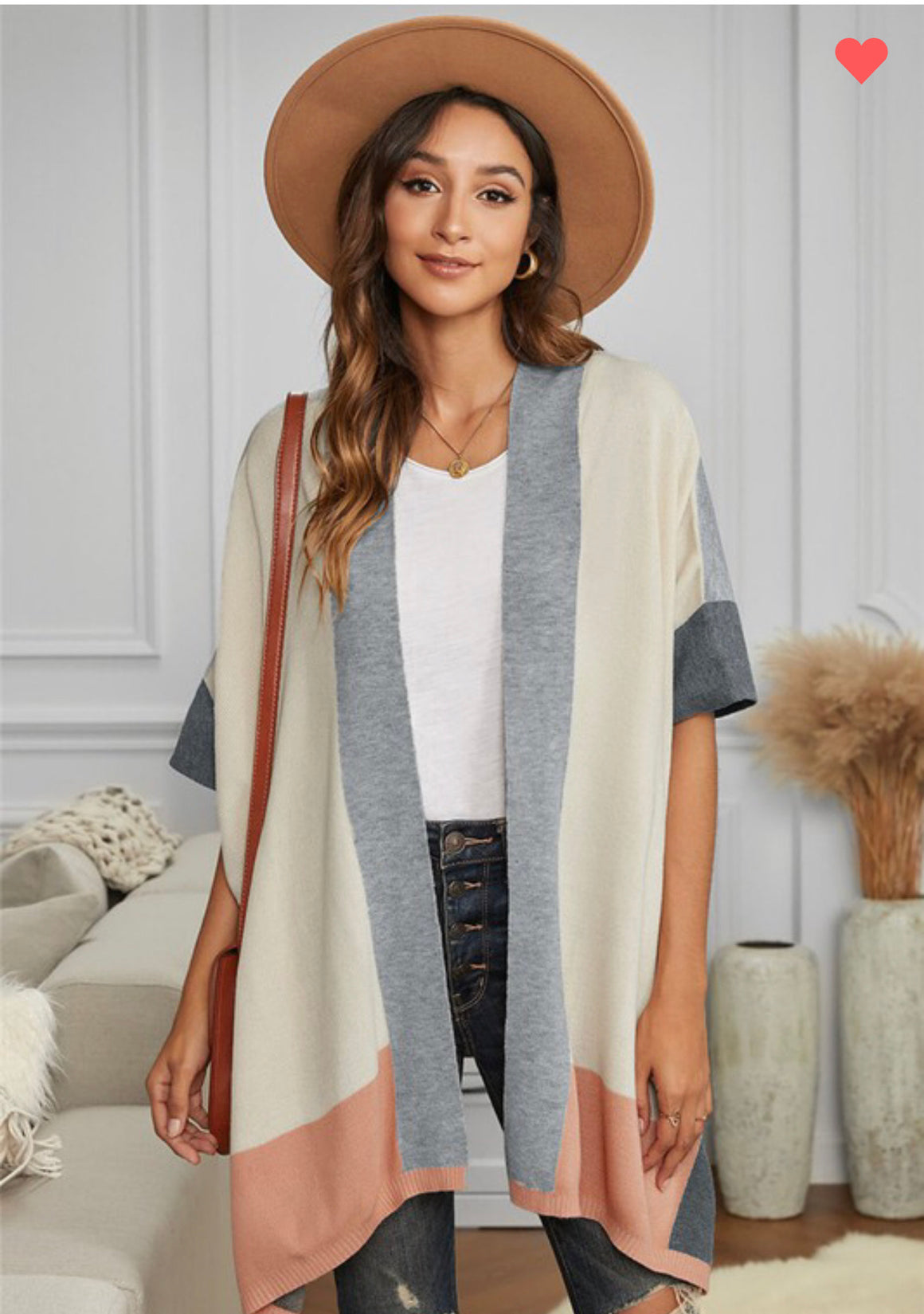 Kristin Color Block Cardigan