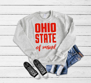 Ohio state of mind fleece {Grey + co}