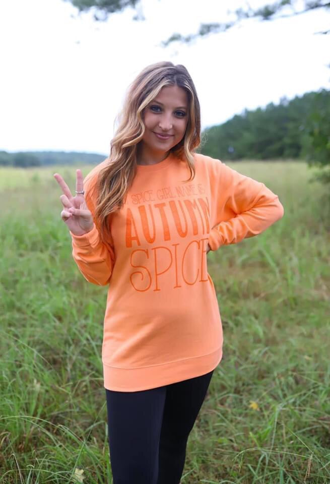 Autumn Spice Girl Tee/Crew
