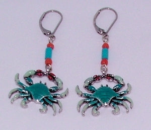 Custom Handmade Crab Ear Rings