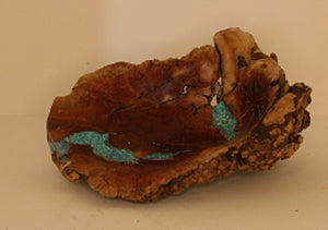 Manzanita Burl with inlaided Turquoise