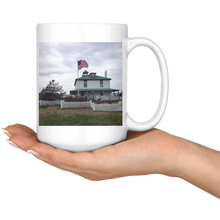 High Quality 15oz. Ceramic Mug - Old Glory Over deWitt