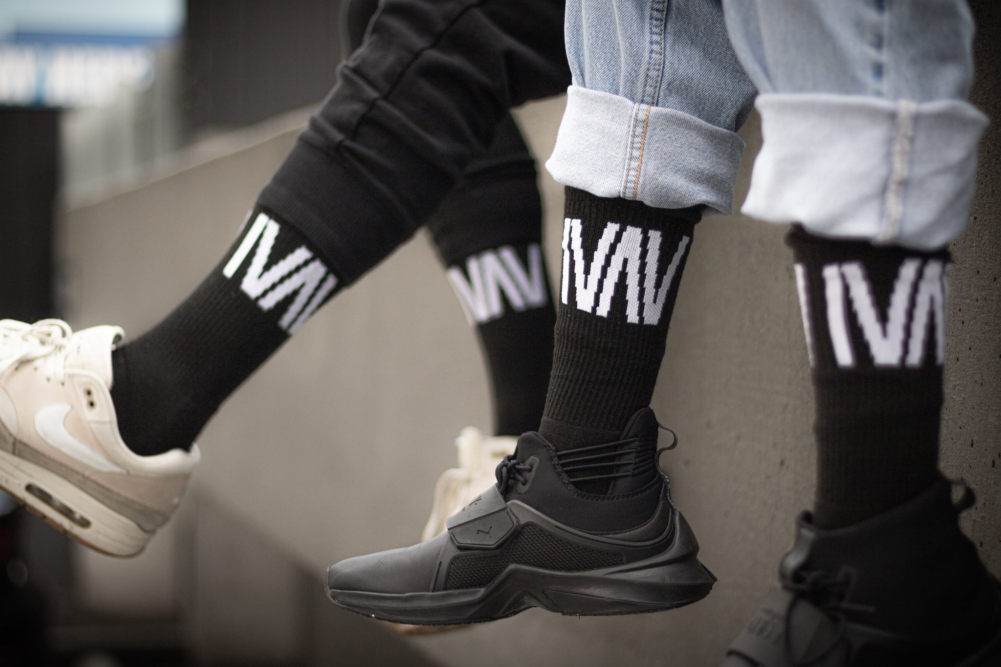 IVAV Black Socks