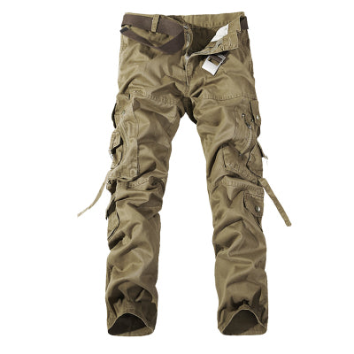 Men's Cargo Pants army green big pockets Casual trousers  size 28 - 42