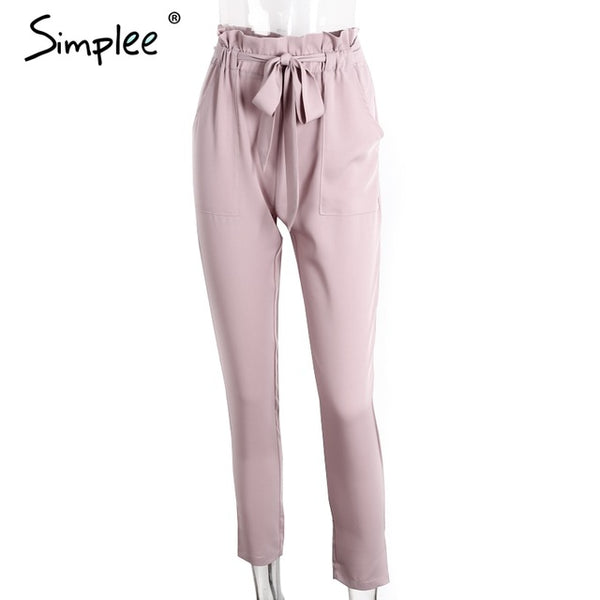 Simplee Apparel OL chiffon high waist harem pants Women