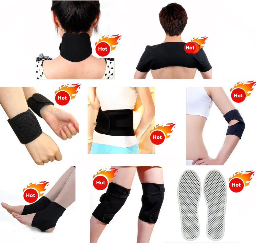 14 pcs/set Tourmaline Magnetic Therapy Self Heating Massage Belt Relieve's Pain