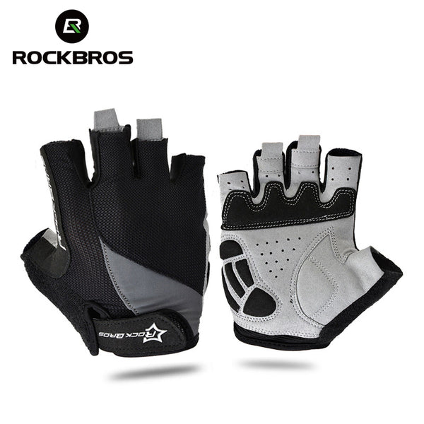 Cycling Anti-slip Anti-sweat Men Women Half Finger Gloves Breathable Anti-shock