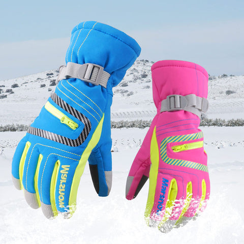 Winter Wind & Water Proof Professional Ski-Snowboard Gloves Girls, Boys, Adult, Warm