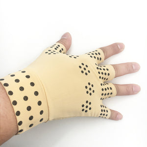 1 Pair Magnetic Therapy Finger less Gloves Arthritis Pain Relief Heal Joints
