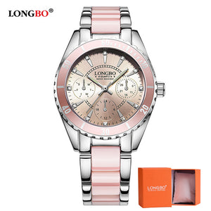Women Ceramic And Alloy Analog Wristwatch water ,shock, resistant