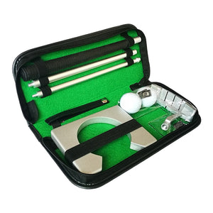 Mini Golf Training Aids Indoor Golf Ball Holder Golf Putter Practice Kit & Training Set With Case