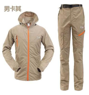 Men's Fishing clothes, Jacket or 2 piece suit, Sunscreen light, Ultra thin Breathable