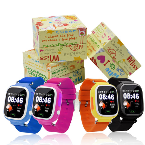 Smartwatch Touch Screen WIFI Positioning Children Locator Kid Safe Anti-Lost Life Water Proof