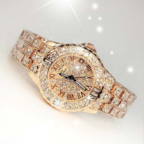 Women Rhinestone, diamond, Crystal, Quartz Watch