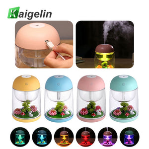 7 Colors Night Lamp Humidifier USB Touch Sensor Night Light Luminaire LED Bedside Children