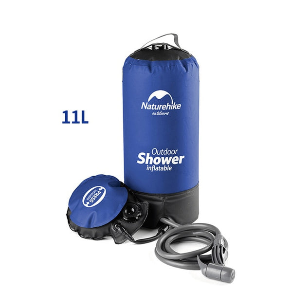 11 L PVC Outdoor Inflatable Shower Pressure Shower Water Bag Portable Camp