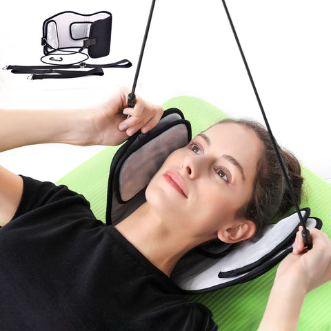 Neck Brace, Headache, Back, Shoulder Pain, Relief Hammock Cervical Neck Traction Device Stretcher