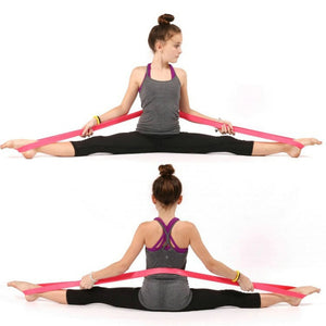 Natural Latex Dance,Yoga, exercise Physio Resistance Bands Fitness Loop Body building Pull Rope