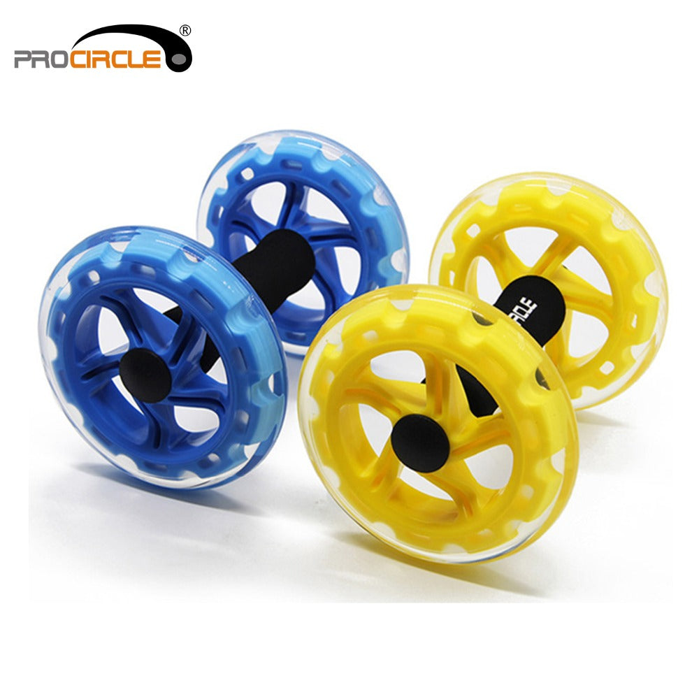 Wheels Abdominal Exercise Rollers, Core Trainer Strength Cross fit Gym Body Fitness Double-Wheeled