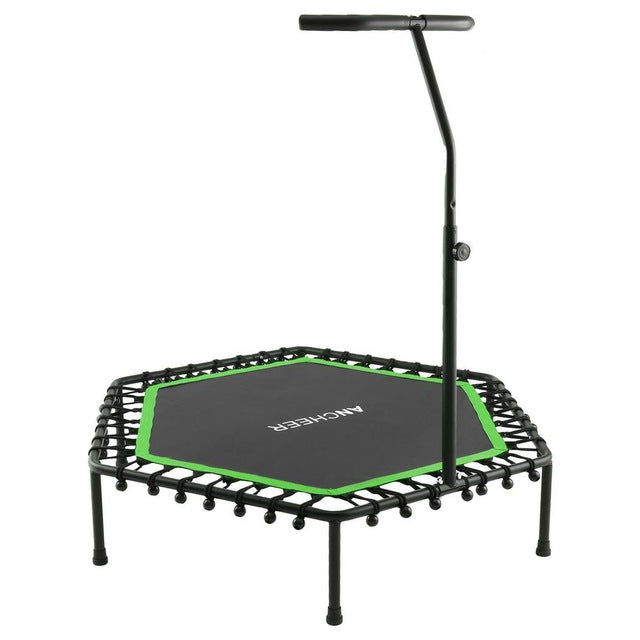 Trampoline for Adults & Children Adjustable Folding Height Indoor Professional Fitness