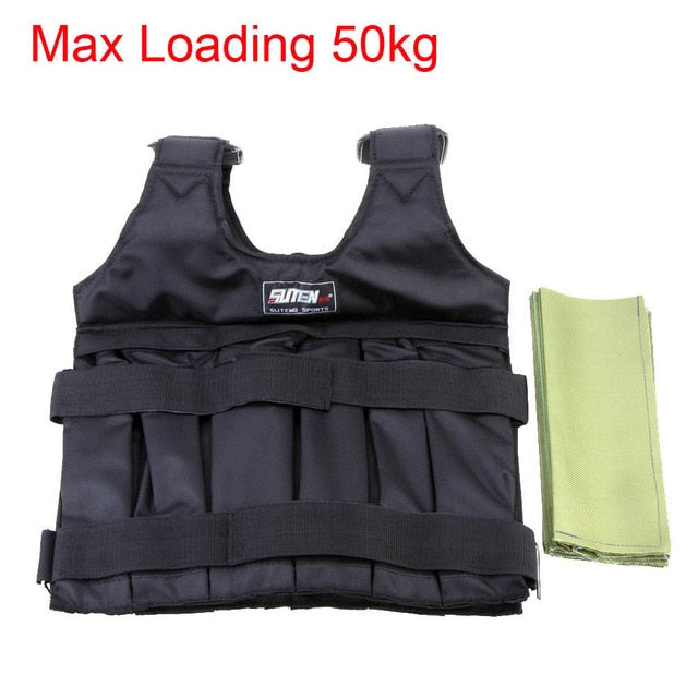 20 kg/50 kg Loading Weighted Vest For Boxing, Workout Fitness Equipment Adjustable Waistcoat