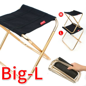 Camping Folding Chairs, Lightweight Aluminum Stool,With Bag For Travel, Hiking, Fishing