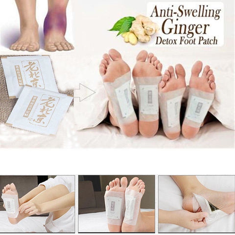 50 Pcs Anti-Inflammation, Swelling, Ginger Foot Patch Organic Herbal Detox Pads