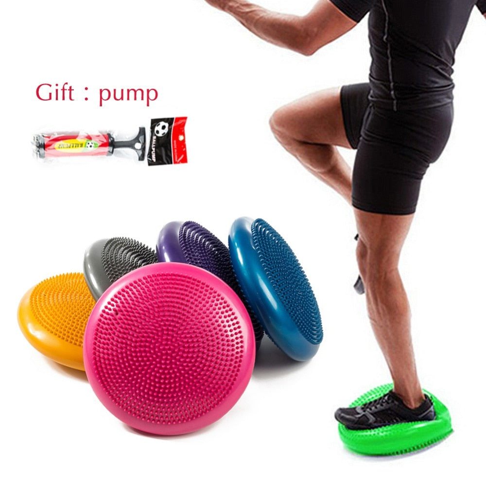 Waterproof Soft Balance, Pad, Yoga, Mat Block, Thick, disk, Fitness, Training, Yoga with Pump