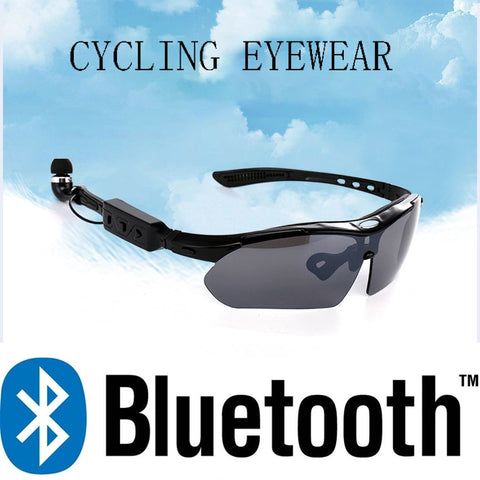 Cycling Glasses Sports Headphones Stereo Music Wireless Bluetooth Headset Earphones Eye wear