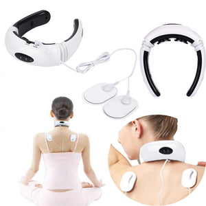 Electric Pulse Back and Neck Massager Far Infrared Heating Pain Relief, Relaxation Multi Functional