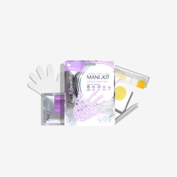 All-In-One Disposable Mani kit with Lavender Gloves-Essentials & Self Care-Universal Nail Supplies