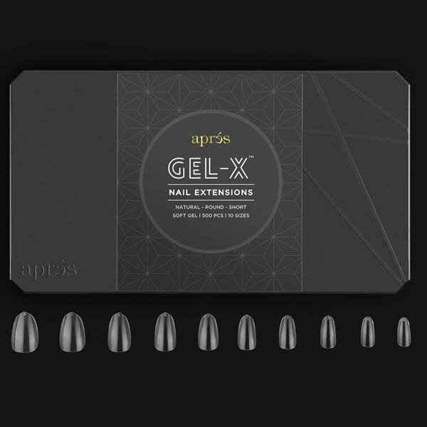 Aprés Nail Gel-X Extensions - Natural Round Short-Gel System-Universal Nail Supplies