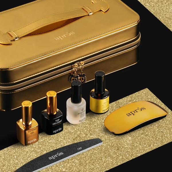 Aprés Nail Gel-X Nail Extensions System GOLD Chaun Legend 7 Piece Set-Gel System-Universal Nail Supplies