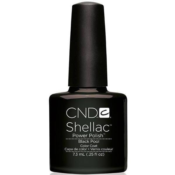 CND Creative Nail Design Shellac - Black Pool-Gel Nail Polish-Universal Nail Supplies