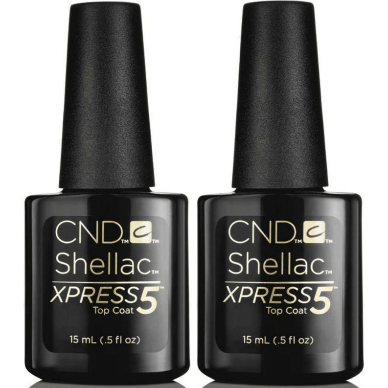 CND Creative Nail Design Shellac - Large Size Xpress 5 Top Coat 0.5 oz 2 ct-Gel Nail Polish-Universal Nail Supplies
