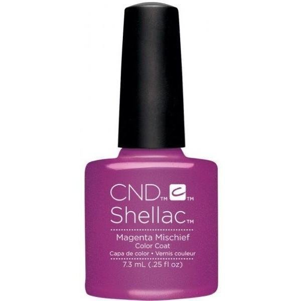 CND Creative Nail Design Shellac - Magenta Mischief-Gel Nail Polish-Universal Nail Supplies