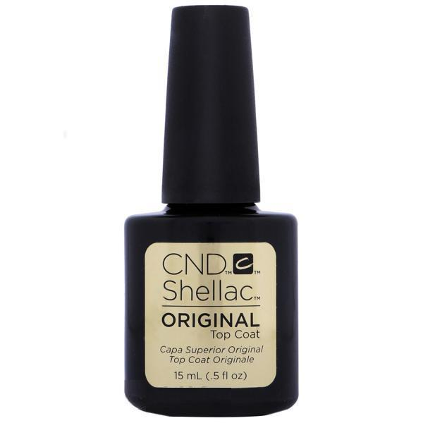 CND Creative Nail Design Shellac - Original Top Coat 0.5 oz (Large size)-Gel Nail Polish-Universal Nail Supplies