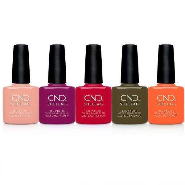 CND Creative Nail Design Shellac - Treasured Moments Collection Set Of 5-Gel Nail Polish-Universal Nail Supplies