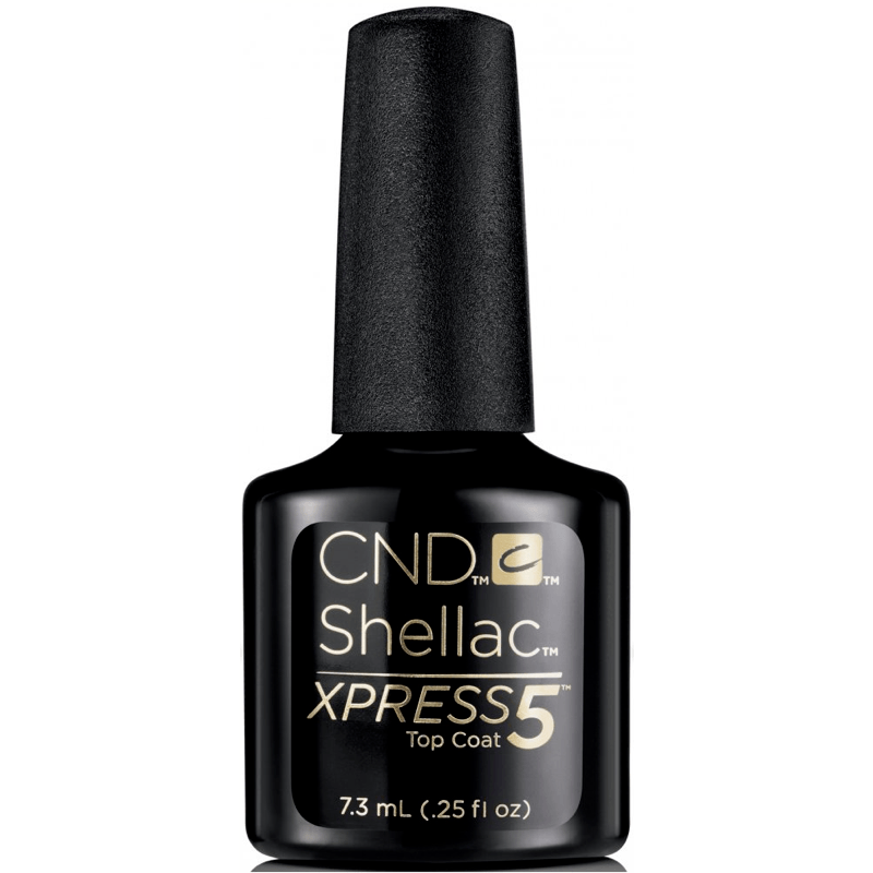 CND Creative Nail Design Shellac - Xpress 5 Top Coat 0.25 oz-Gel Nail Polish-Universal Nail Supplies