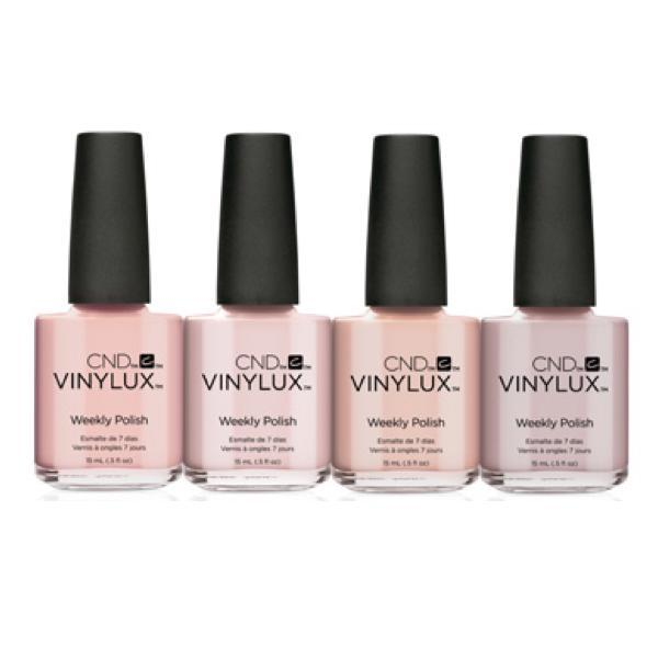 CND Vinylux The Nude Collection set of 4-Nail Polish-Universal Nail Supplies