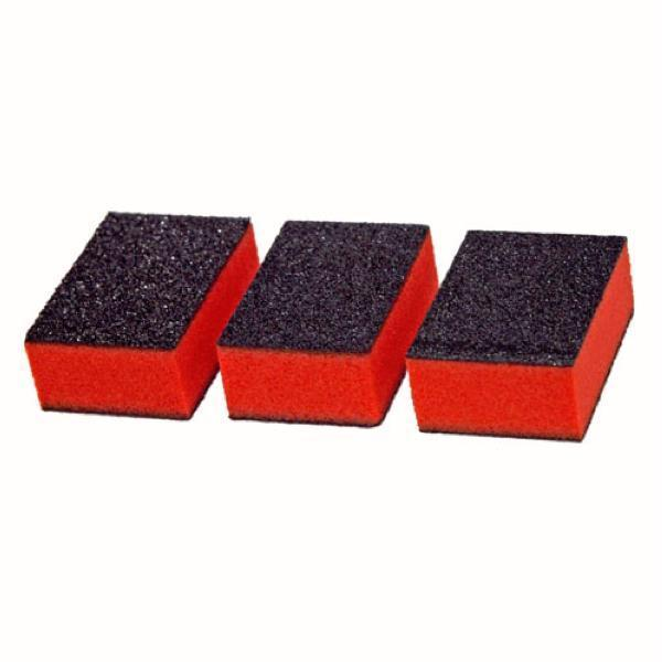 Cre8tion - Set of 50 Mini 2 way Buffer Orange Foam Black Grit 100/180 #06026-Nail Tools-Universal Nail Supplies