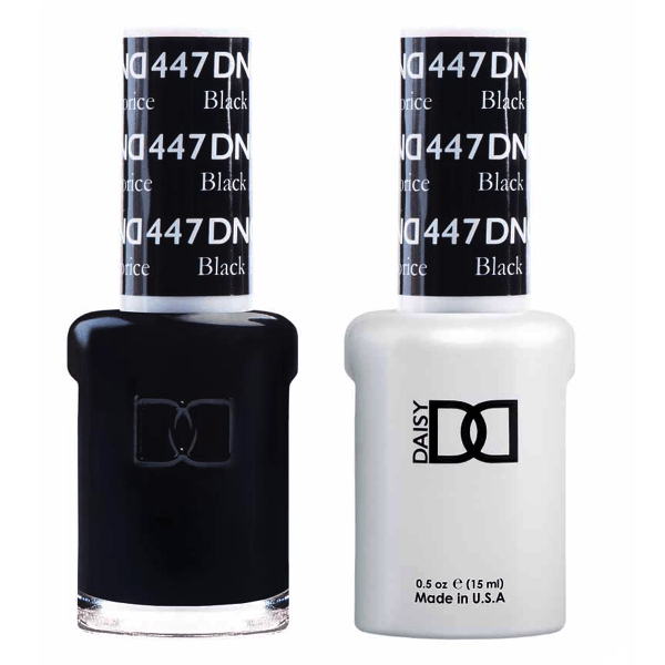 DND Daisy Gel Duo - Black Licorice #447-Gel Nail Polish + Lacquer-Universal Nail Supplies